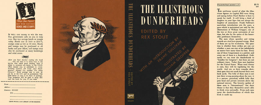 Illustrious Dunderheads, The. Rex Stout, Anthology.