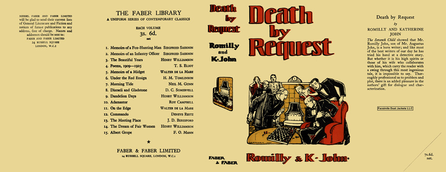 Death by Request. Romilly John, Katherine John