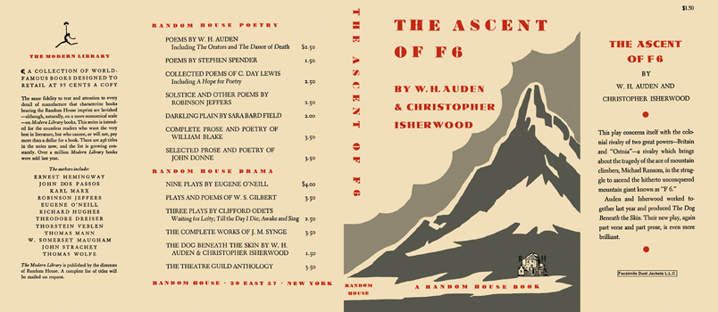 Ascent of F 6, The. W. H. Auden, Christopher Isherwood.