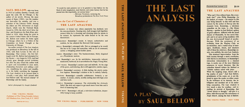 Last Analysis, The. Saul Bellow.