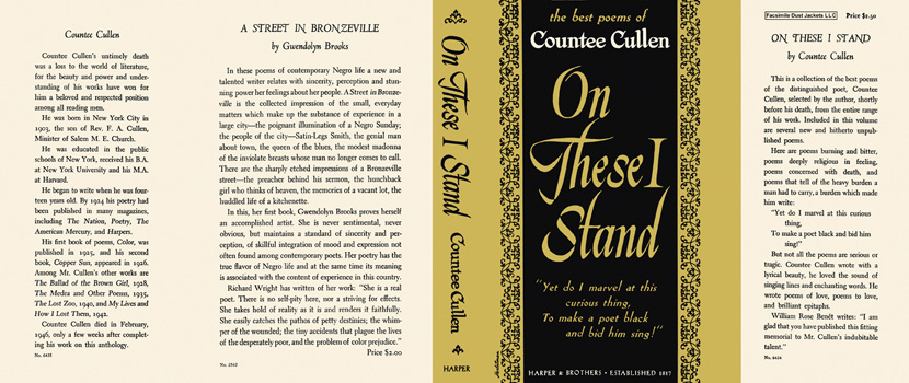 On These I Stand. Countee Cullen