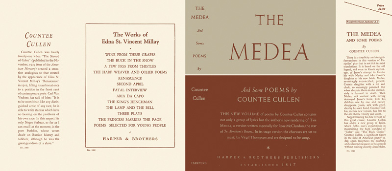 Medea and Some Poems, The. Countee Cullen.