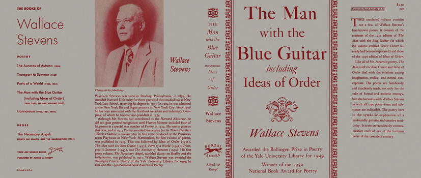 Man with the Blue Guitar Including Ideas of Order, The. Wallace Stevens