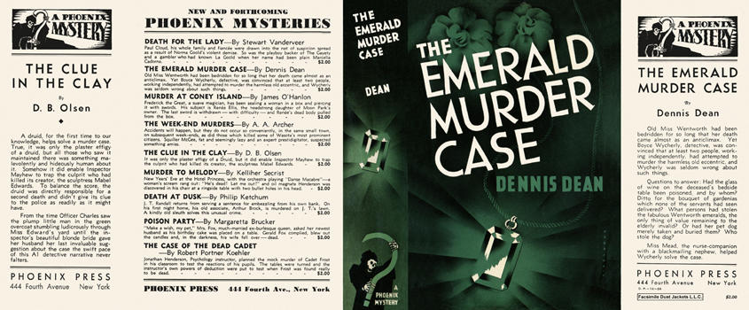 Emerald Murder Case, The. Dennis Dean.