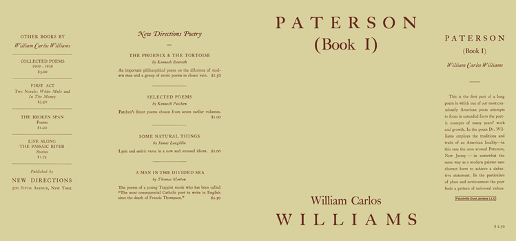 Paterson, Book 1. William Carlos Williams.
