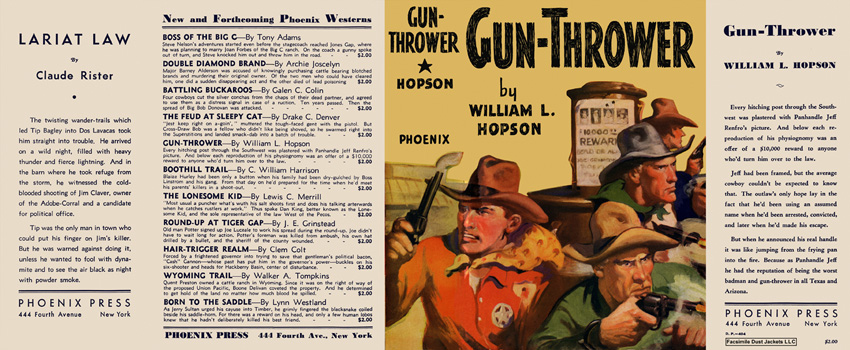 Gun-Thrower. William L. Hopson.