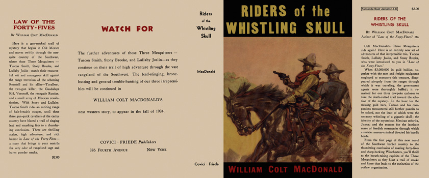 Riders of the Whistling Skull. William Colt MacDonald