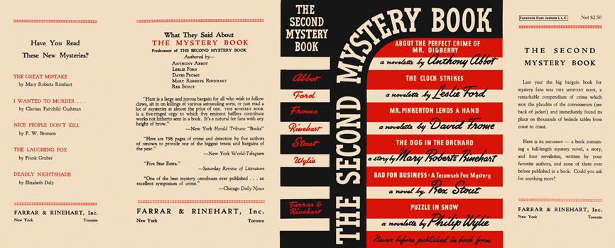 "Second Mystery Book, The (including the novel ""Bad for Business""). Anthology"