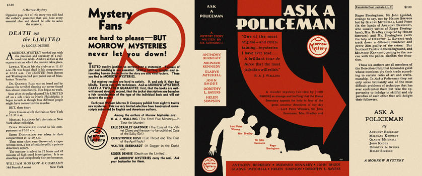 Ask a Policeman. The Detection Club.
