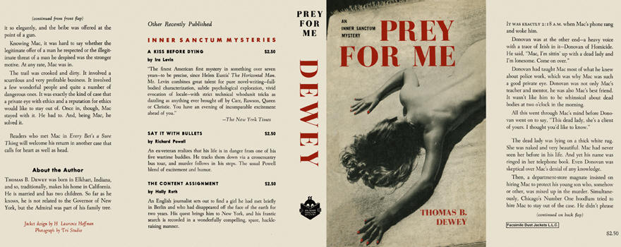Prey for Me. Thomas B. Dewey