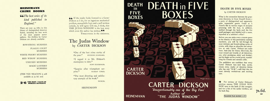 Death in Five Boxes. Carter Dickson