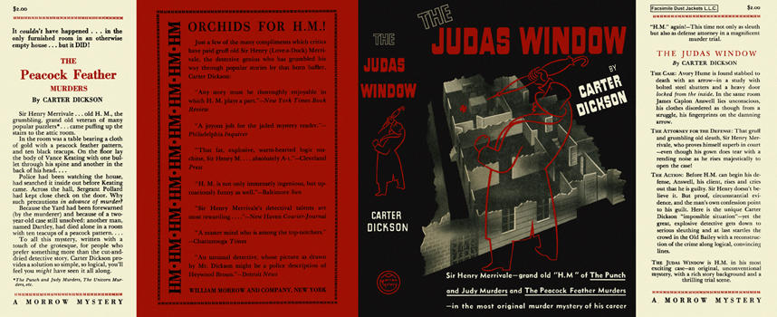 Judas Window, The. Carter Dickson