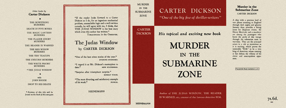 Murder in the Submarine Zone. Carter Dickson
