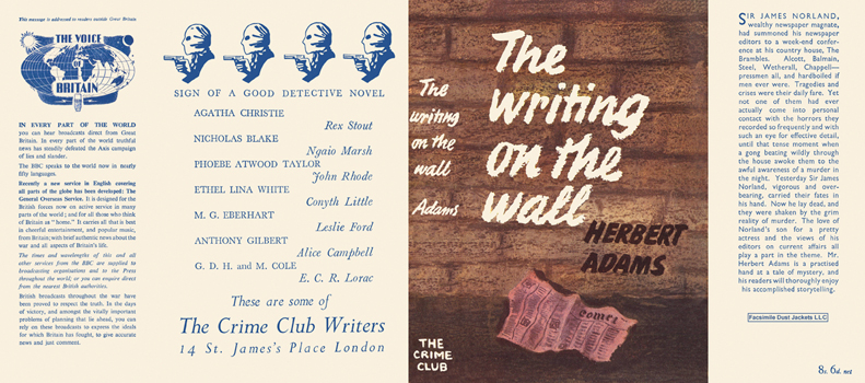 Writing on the Wall, The. Herbert Adams