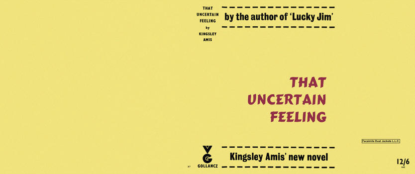That Uncertain Feeling. Kingsley Amis.