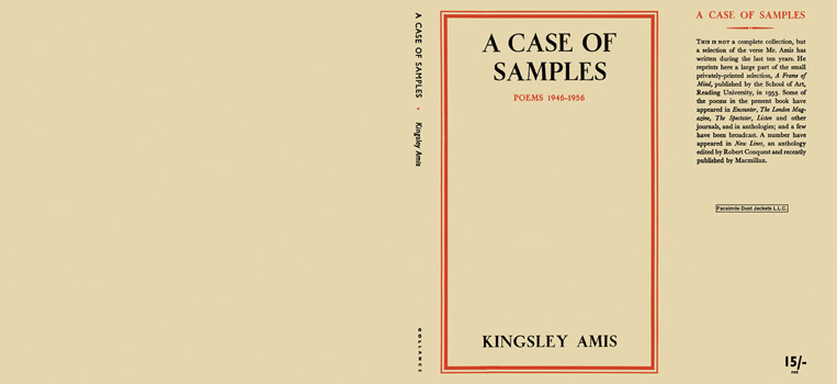 Case of Samples, Poems, 1946 - 1956, A. Kingsley Amis