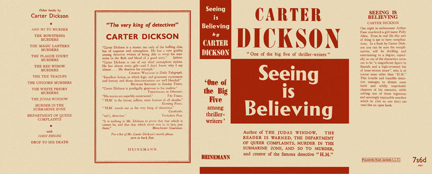 Seeing Is Believing. Carter Dickson.
