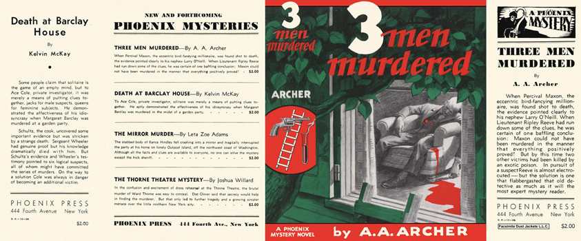 Three Men Murdered. A. A. Archer