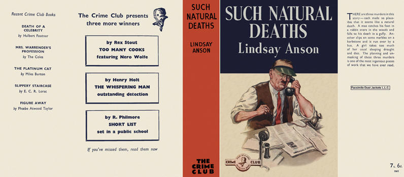 Such Natural Deaths. Lindsay Anson.