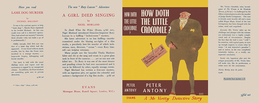 How Doth the Little Crocodile? Peter Antony