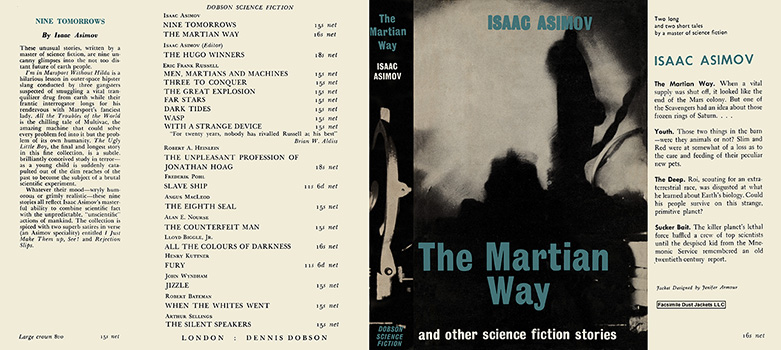 Martian Way and Other Science Fiction Stories, The. Isaac Asimov