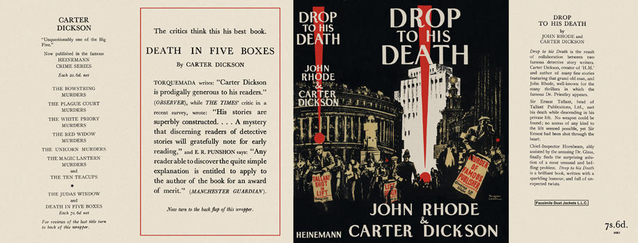 Drop to His Death. John Rhode, Carter Dickson.