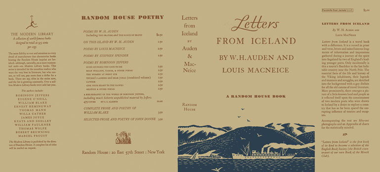 Letters from Iceland. W. H. Auden, Louis MacNeice.