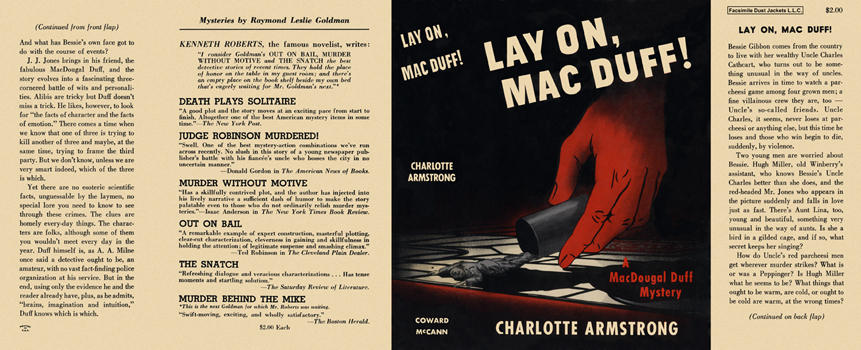 Lay On, Mac Duff! Charlotte Armstrong.