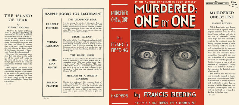 Murdered One by One. Francis Beeding