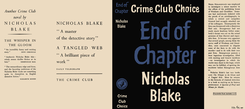 End of Chapter. Nicholas Blake.