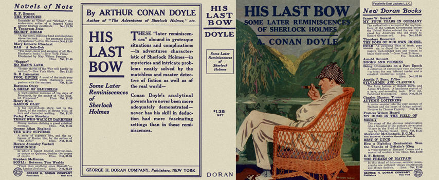 His Last Bow, Some Later Reminiscences of Sherlock Holmes. Sir Arthur Conan Doyle