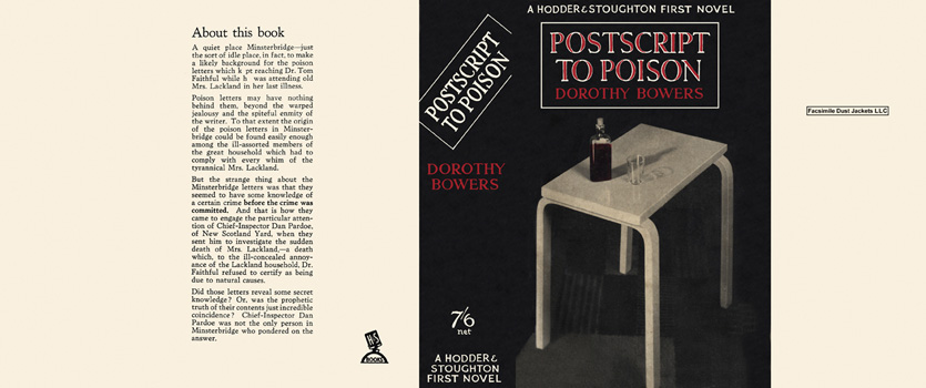 Postscript to Poison. Dorothy Bowers.