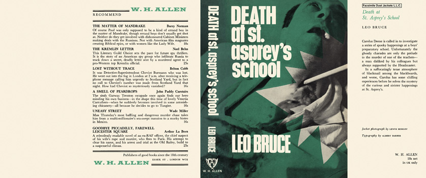 Death at St. Asprey's School. Leo Bruce.