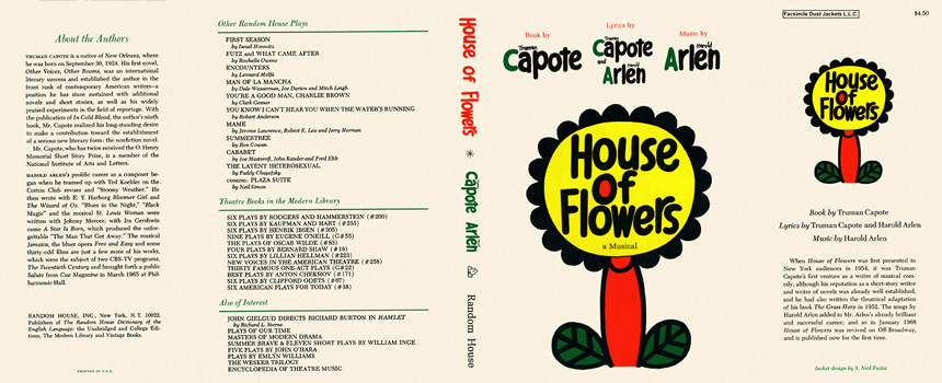 House of Flowers, A Musical. Truman Capote, Harold Arlen