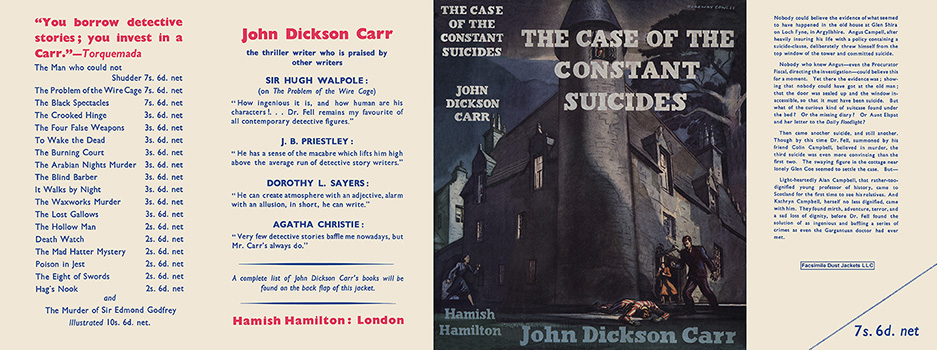 Case of the Constant Suicides, The. John Dickson Carr.