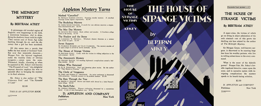 House of Strange Victims, The. Bertram Atkey