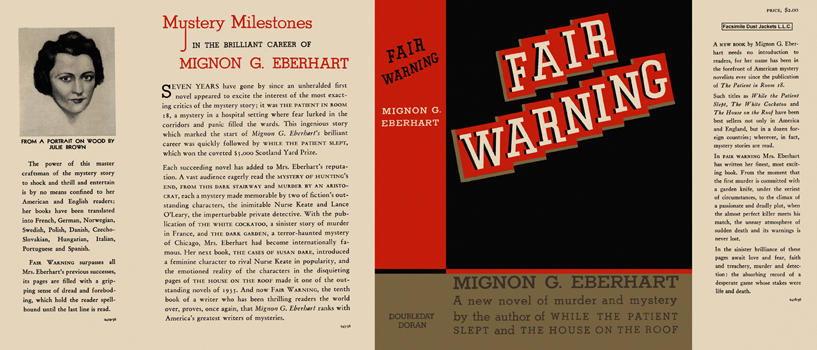 Fair Warning. Mignon G. Eberhart