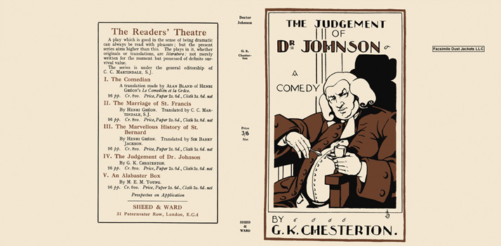 Judgement of Dr. Johnson, The. G. K. Chesterton