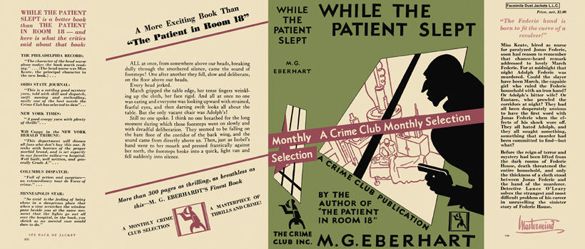 While the Patient Slept. Mignon G. Eberhart.