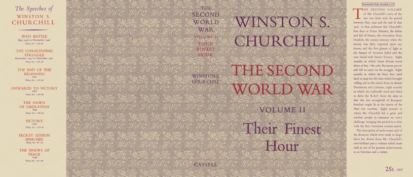 Second World War, Volume II, Their Finest Hour, The. Winston S. Churchill