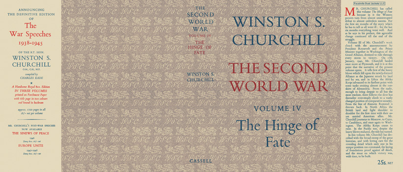 Second World War, Volume IV, The Hinge of Fate, The. Winston S. Churchill