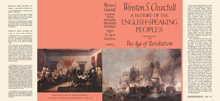 History of the English-Speaking Peoples, Volume III, The Age of Revolution, A. Winston S. Churchill.