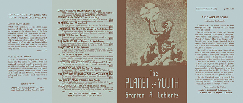 Planet of Youth, The. Stanton A. Coblentz.