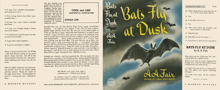 Bats Fly at Dusk. A. A. Fair