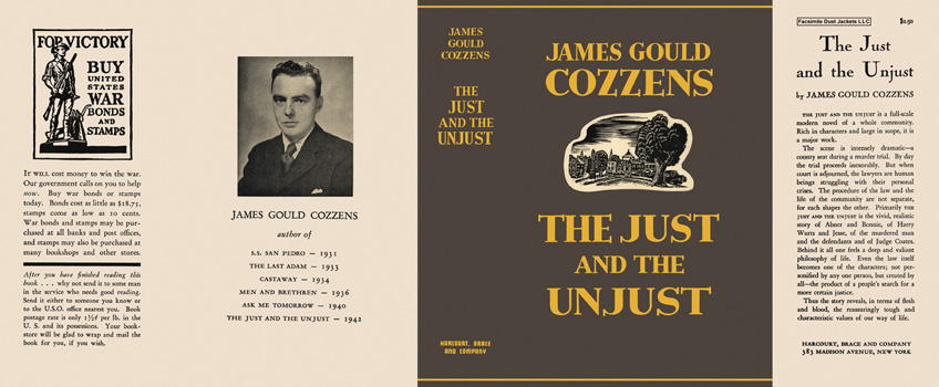 Just and the Unjust, The. James Gould Cozzens.
