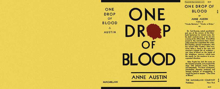 One Drop of Blood. Anne Austin