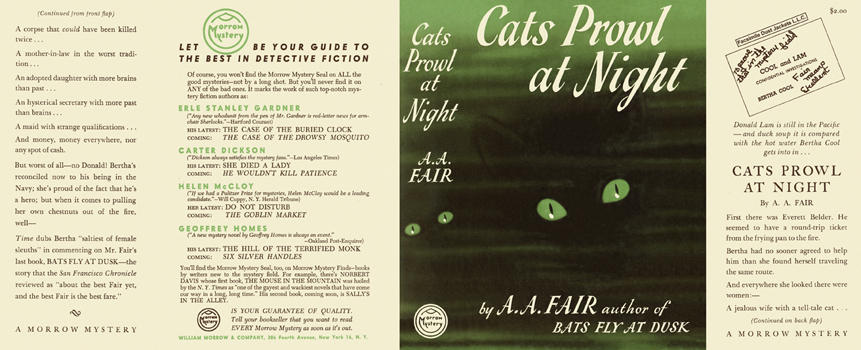 Cats Prowl at Night. A. A. Fair