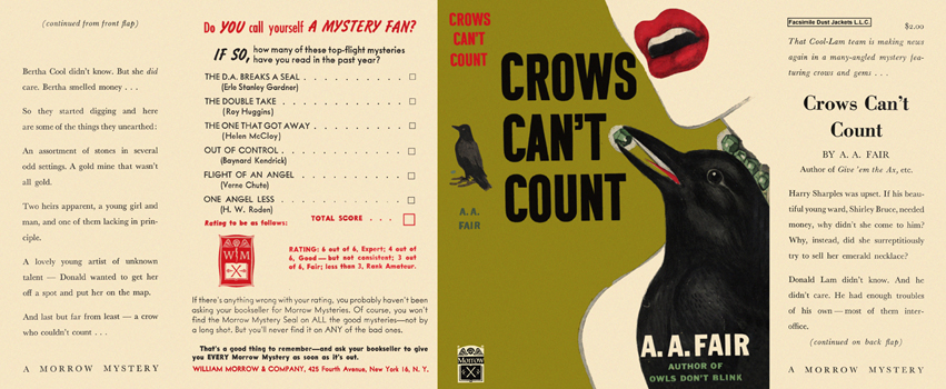 Crows Can't Count. A. A. Fair.