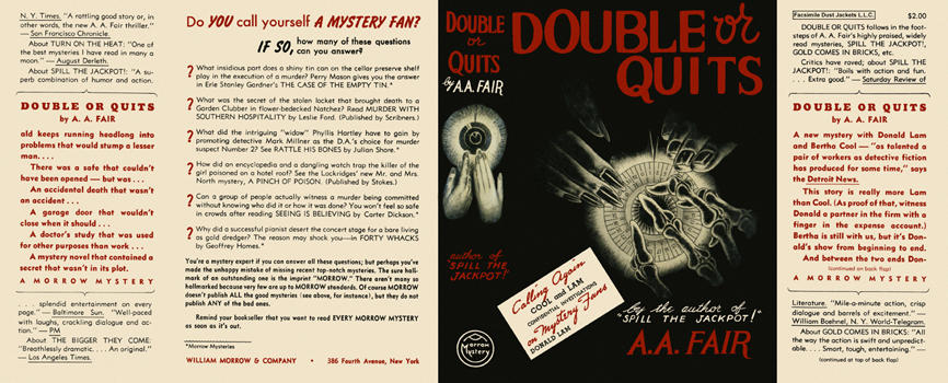 Double or Quits. A. A. Fair