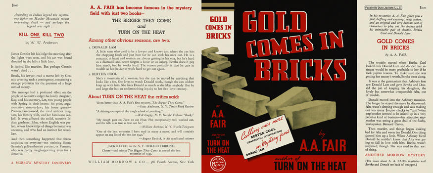 Gold Comes in Bricks. A. A. Fair.